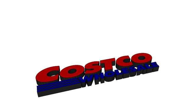 Costco Logo - Costco Logo | 3D Warehouse