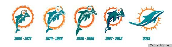 Dolphins Old Logo - Miami Dolphins' New Uniforms, Logo Unveiled (PHOTOS, VIDEO) | HuffPost