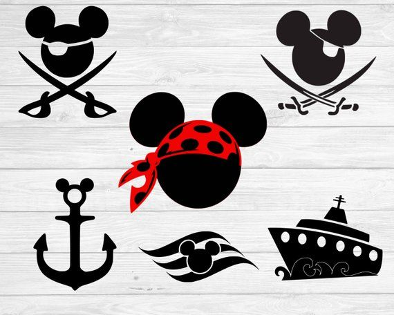 image regarding Mickey Anchor Printable known as Mickey Mouse Pirate Brand - LogoDix