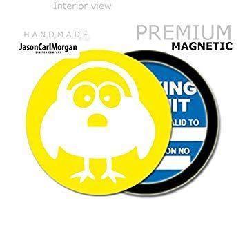 JasonCarlMorgan JCM Cartoon Fish MOT License Tax Disc Permit Holders Red