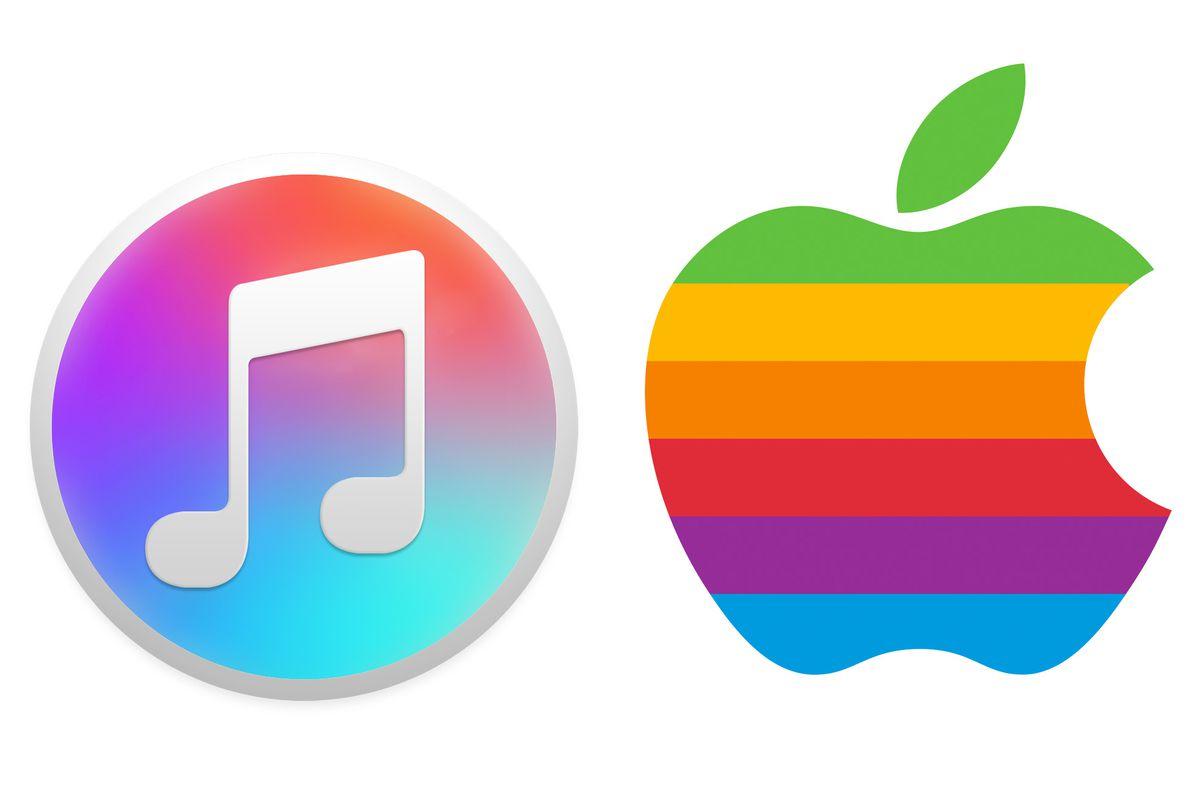 iTunes Logo - The new iTunes icon is a throwback to Apple's classic logo - The Verge