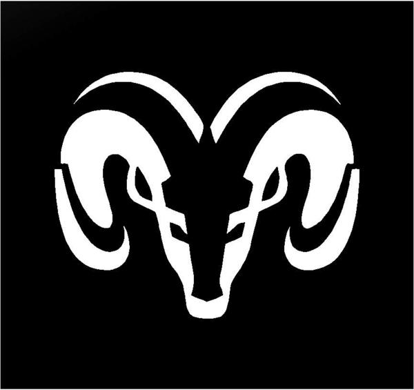 Ram Logo - Dodge Ram Head Logo Symbol Vinyl Decal Car Truck Window Body Sticker