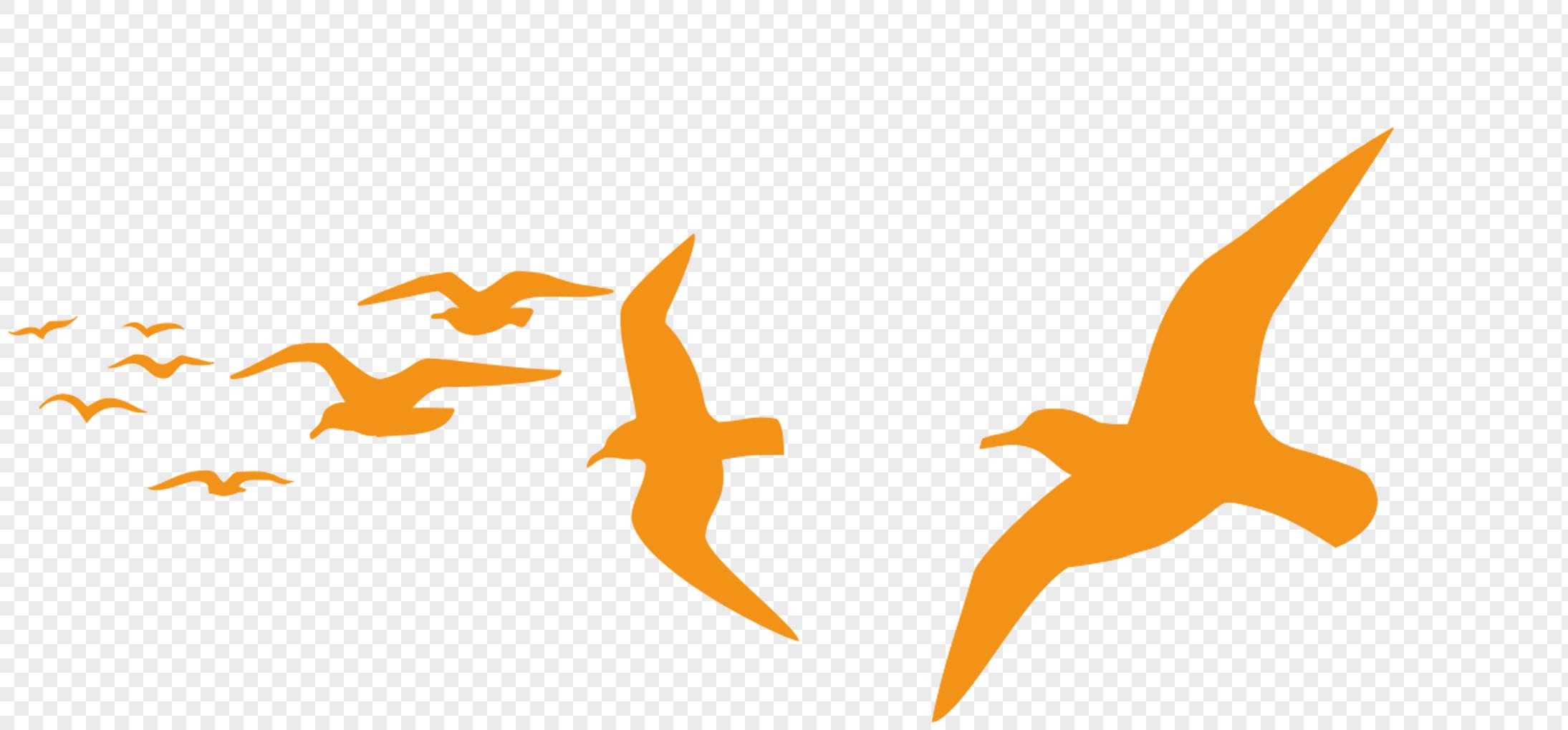 Yellow Flying Bird Logo - LogoDix