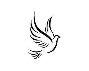 Black And White Dove Logo Logodix
