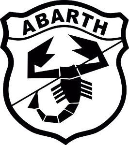 Abarth Logo - ABARTH LOGO - Fiat 500 Vinyl Cut Sticker Decals 225 x200mm - Fiat ...