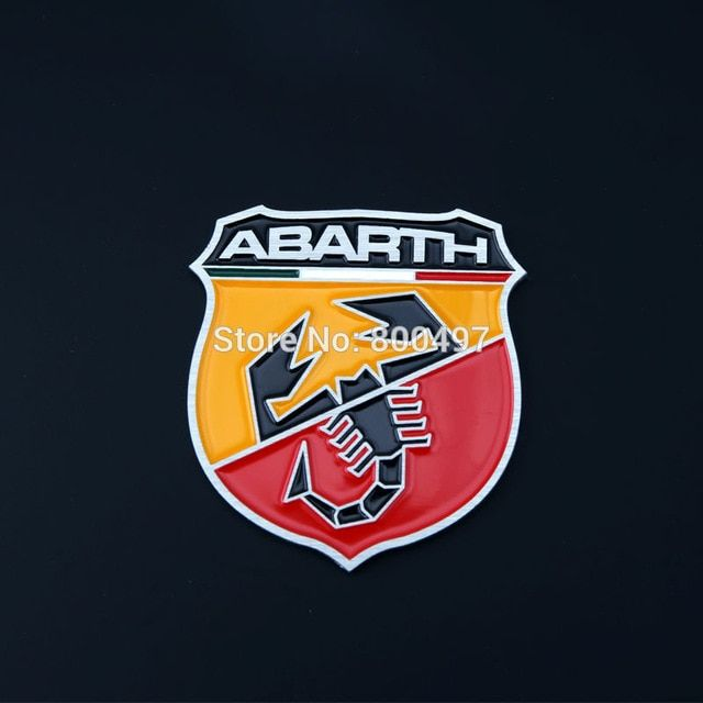 Abarth Logo - 10 x Newest 3D Aluminium Alloy Car Emblem For Fiat Abarth Car ...