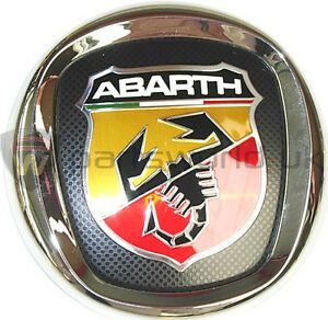 Abarth Logo - New Genuine Fiat Abarth Grande Punto Front Grille Logo Badge Emblem ...