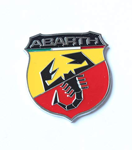 Abarth Logo - Amazon.com: 2pcs Car 3d Logo Fiat Abarth Metal Emblem Badge Sticker ...