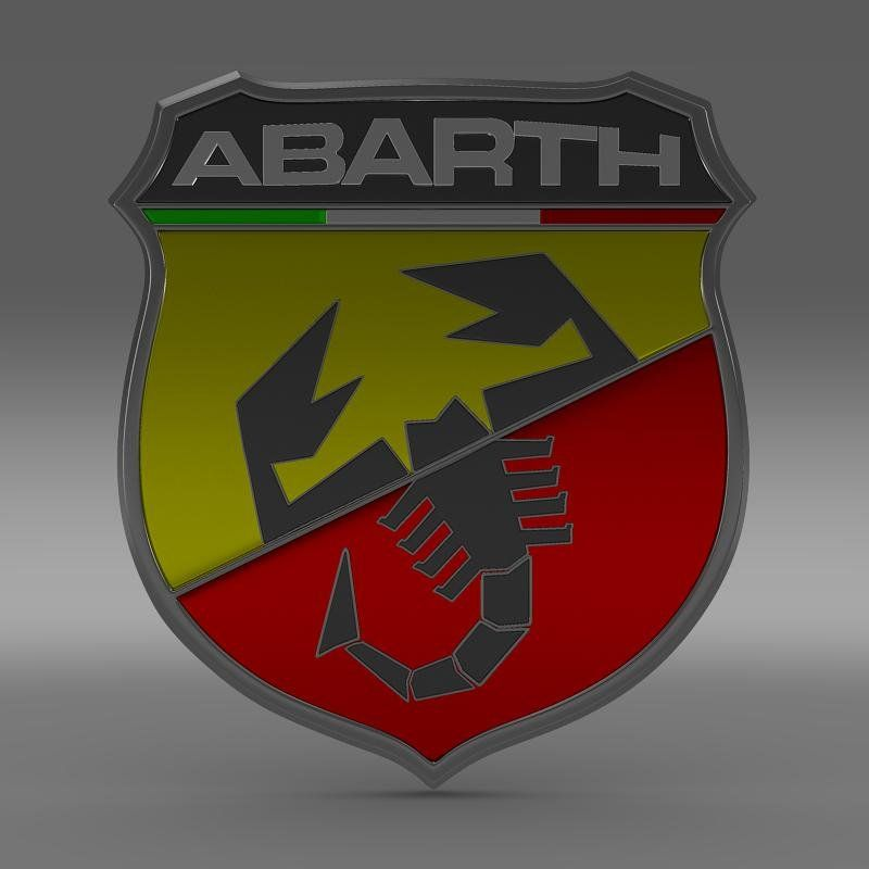 Abarth Logo - Abarth Logo 3D Model in Parts of auto 3DExport