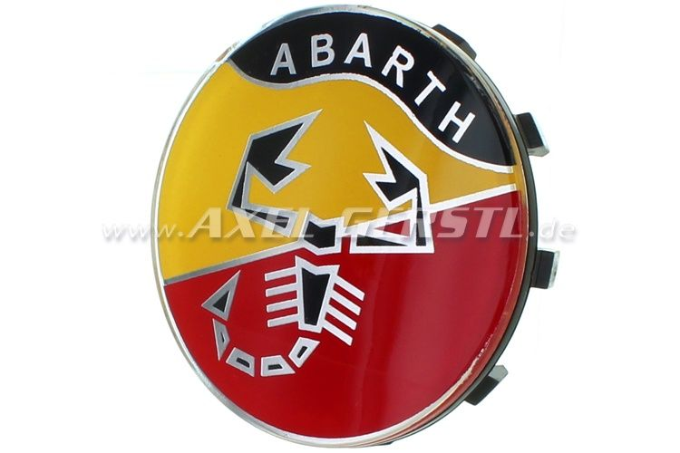 Abarth Logo - Abarth wheel cover, logo, 58mm/60mm - Fiat 500 126 600 spare parts ...