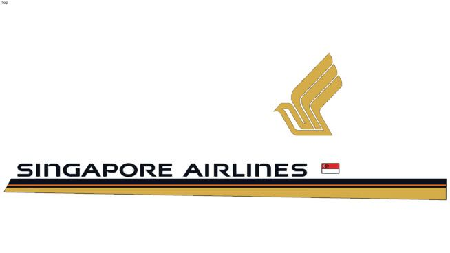 Singapore Airlines Logo - Singapore Airlines logo | 3D Warehouse