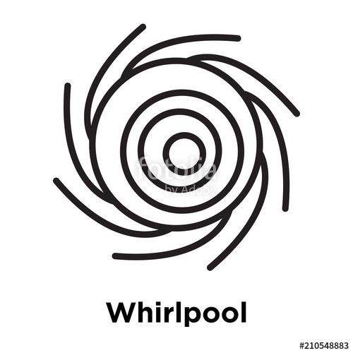 Whirlpool Logo - Whirlpool icon vector sign and symbol isolated on white background ...