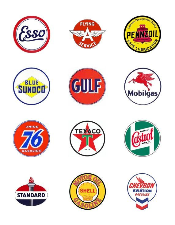 Gas Station Logo - Oil Company Logos | figured i d gather a few vintage gas and oil ...