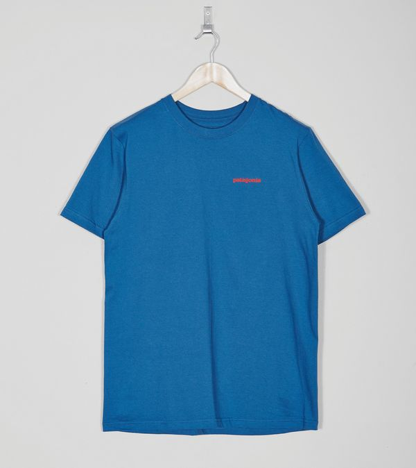 White and Blue Lines Logo - Patagonia Lines Logo T-Shirt | Size?