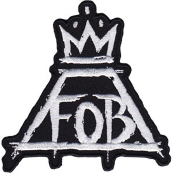 FOB Fall Out Boy Logo - Fall Out Boy Iron-On Patch Crown FOB Logo – Rock Band Patches