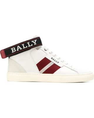Bally Logo - Hot Bargains! 40% Off Bally logo ankle strap sneakers - White