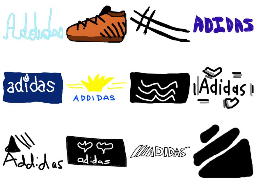 Famous Shoe Brand Logo - Over 150 People Tried To Draw 10 Famous Logos From Memory, And The ...