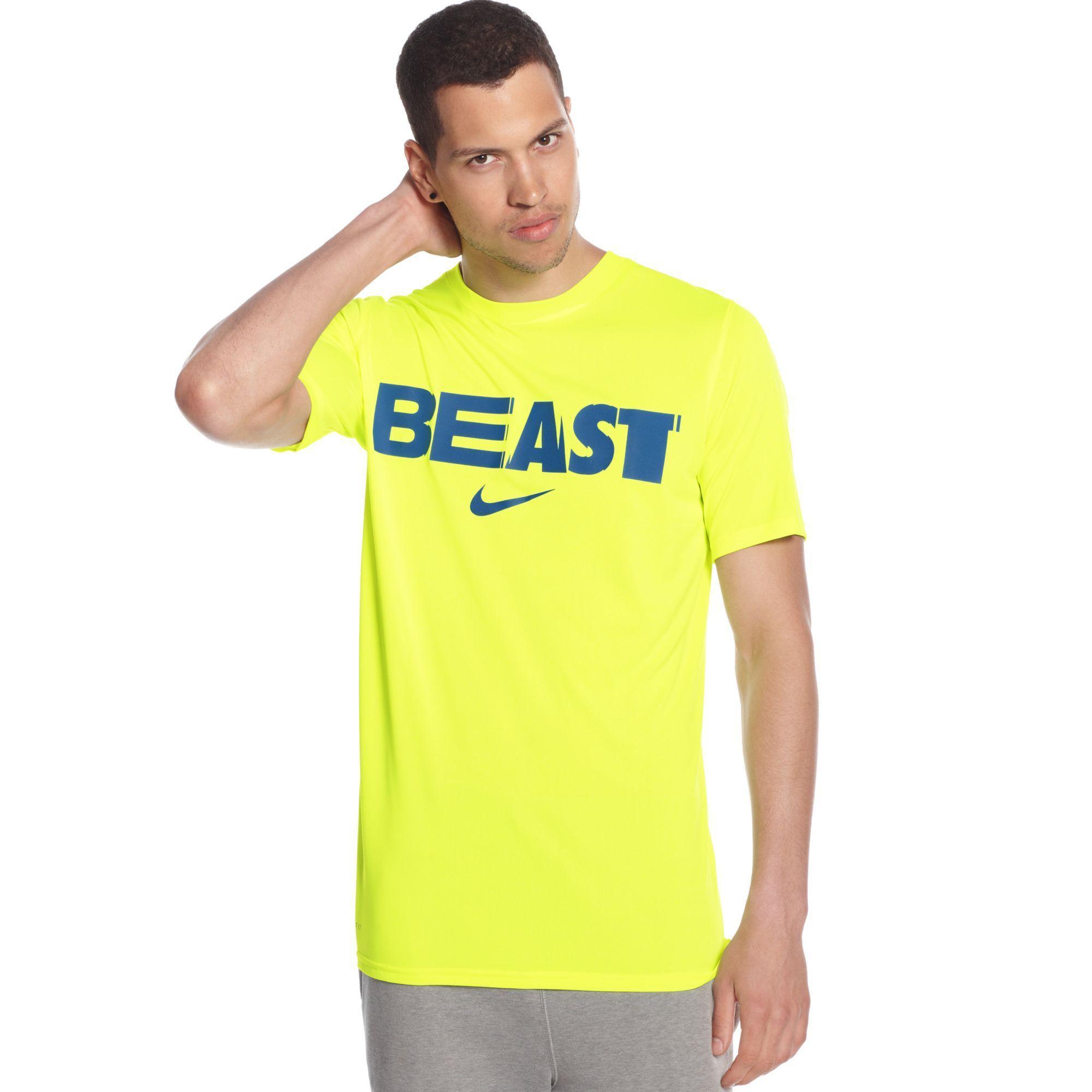c2bd38b30 Nike Beast Logo - Lyst - Nike Football Beast Mode Legend Tshirt in Yellow  for Men