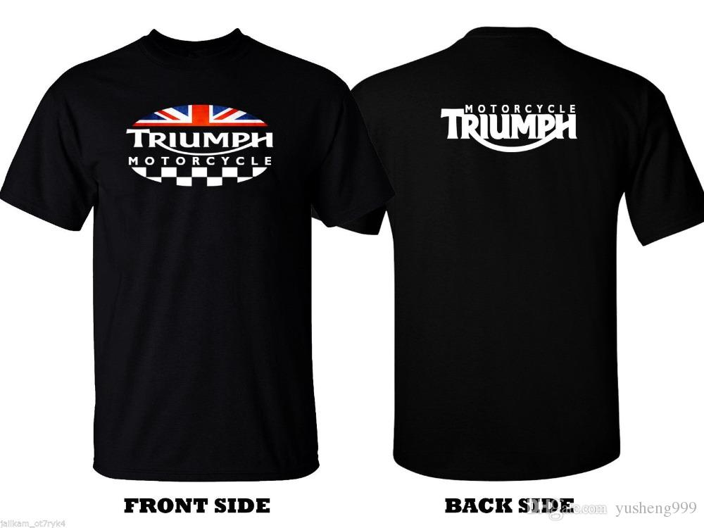 6fded789 Triumph T-Shirt Logo - TRIUMPH MOTORCYCLE Classic Logo T SHIRT Men Tee Euro  Retro