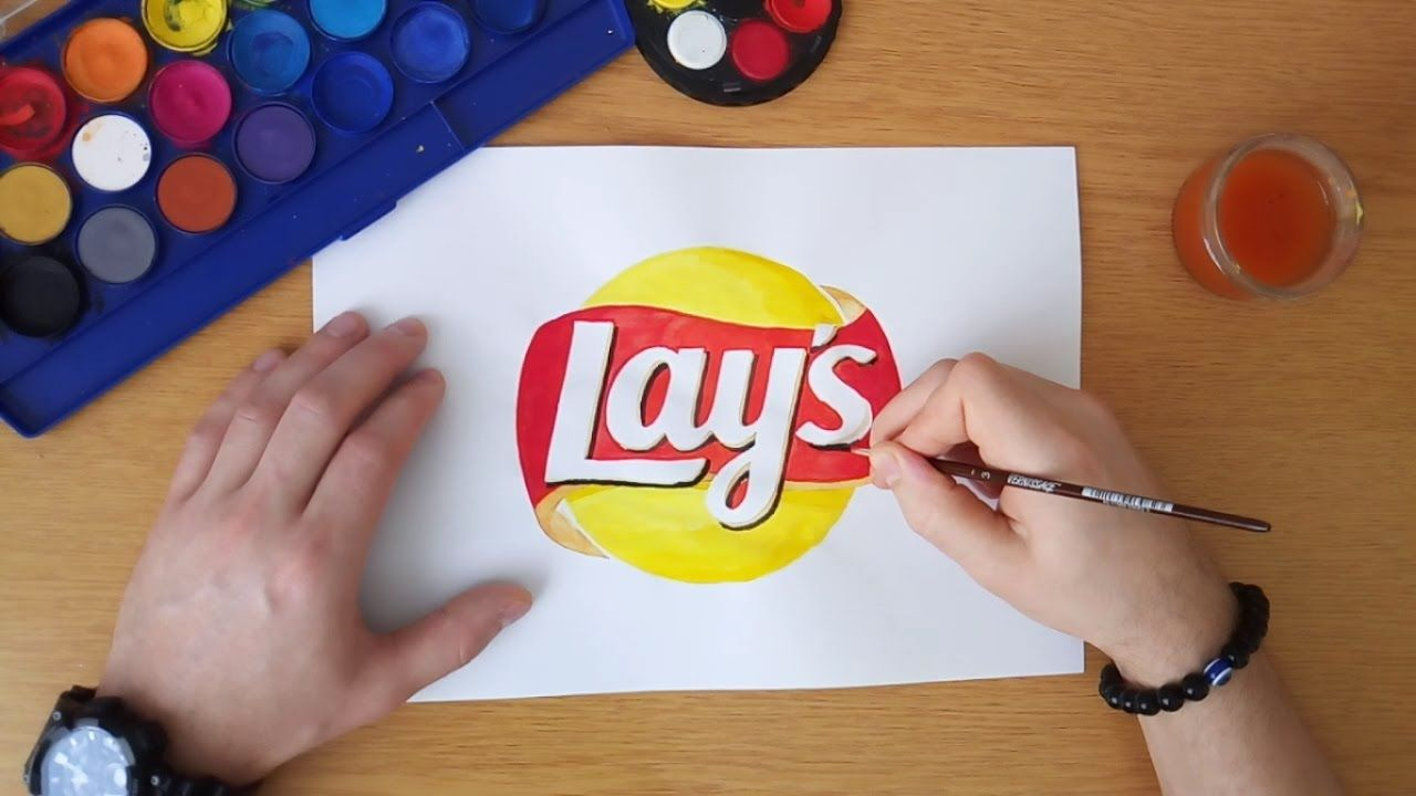 Lay's Logo - How to draw the Lay's logo - YouTube