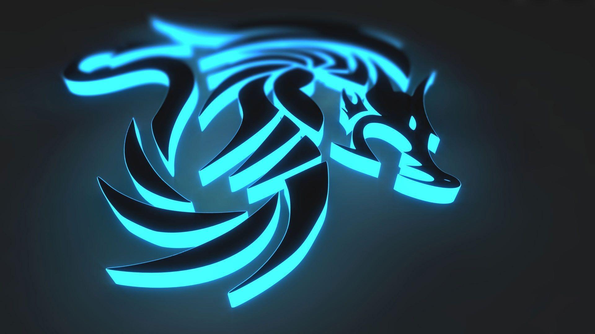 Cool Ice Dragon Logo Logodix