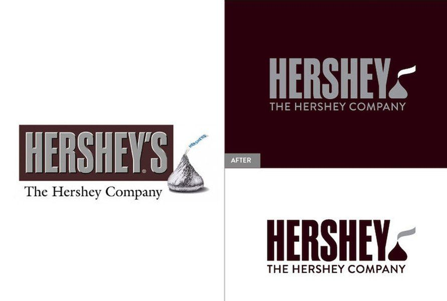 Hershey Logo - Hershey's new logo is sealed with a Kiss - CSMonitor.com