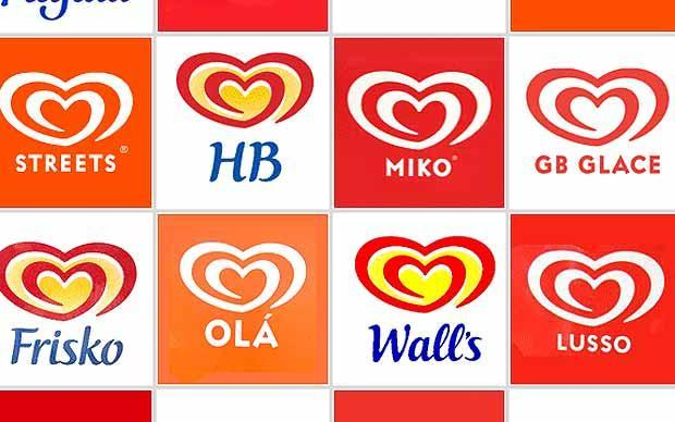 Ice Cream Heart Logo - 49+ Unilever Ice Cream Brands from Around the World