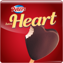 Ice Cream Heart Logo - Ice Cream Australia | Peters Ice Cream