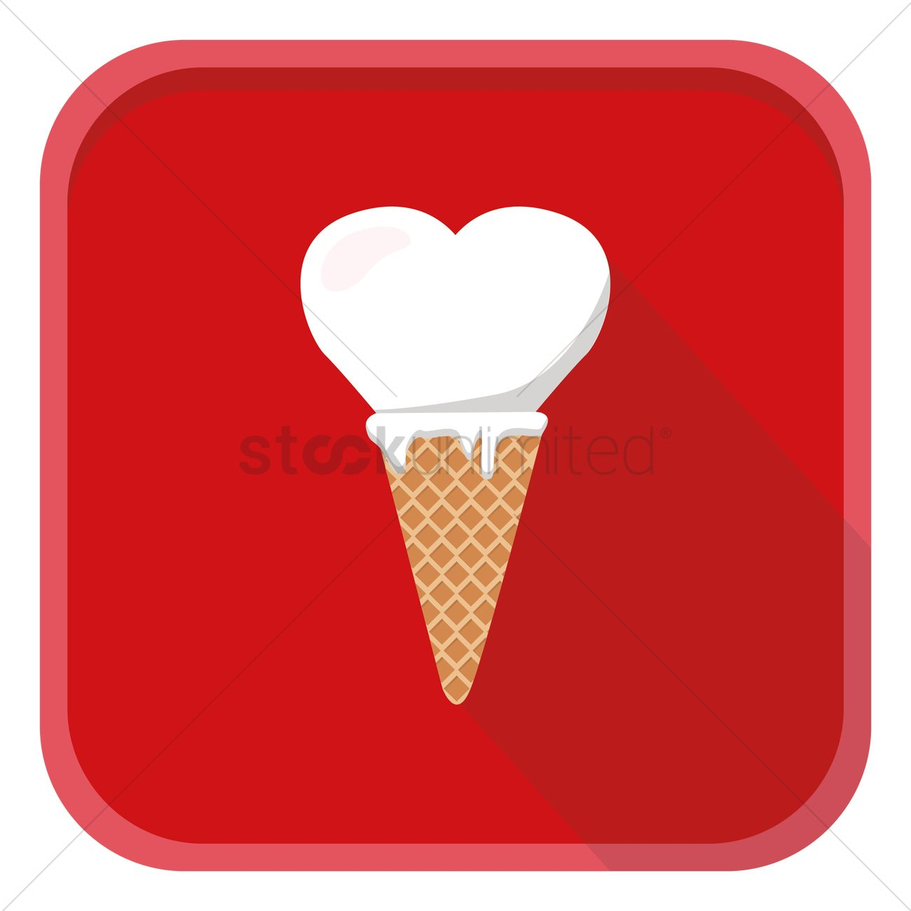 Ice Cream Heart Logo - Free Heart shaped ice cream cone Vector Image - 1274083 | StockUnlimited