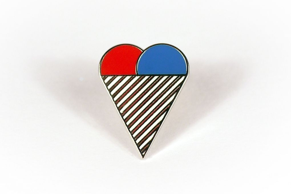 Ice Cream Heart Logo - Crispin Finn – Ice Cream Heart Pin Badge
