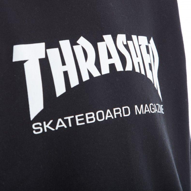 5657d3f605f8 Black and White Thrasher Logo - Thrasher Logo Crew Neck Sweatshirt  (Black/White)