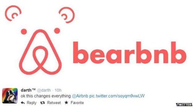 Airbnb Logo - Airbnb's new logo faces social media backlash - BBC News