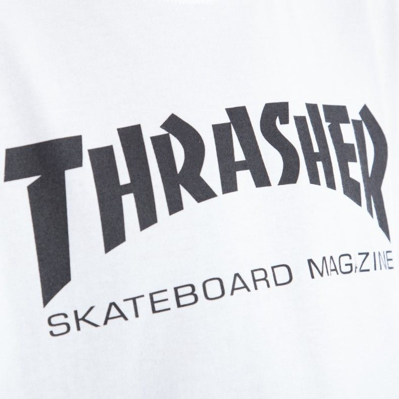 f8e0af79c690 Black and White Thrasher Logo - Thrasher Logo T-Shirt (White/Black)