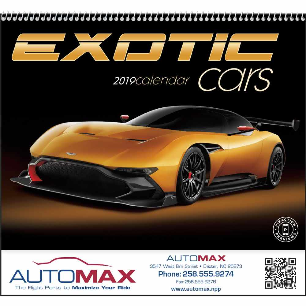 Exotic Car Logo - Promotional 2020 Exotic Cars Appointment Calendars with Custom Logo ...