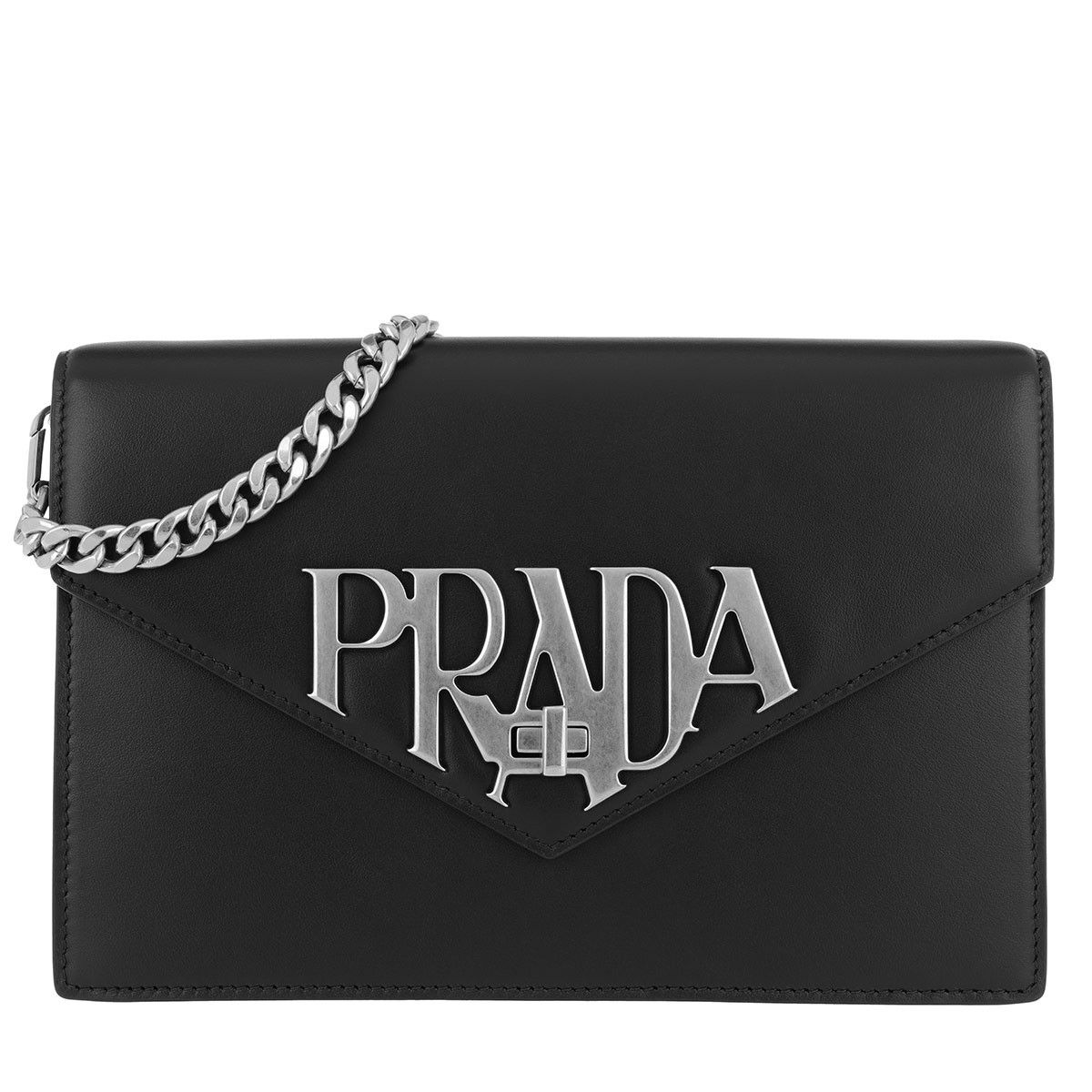 Prada Logo - Prada Logo Crossbody Bag Smooth Leather Black in black | fashionette