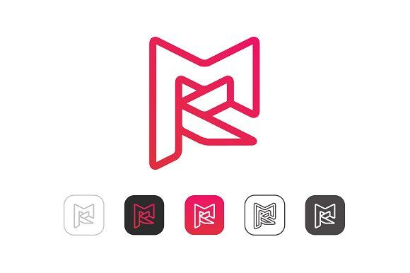 MK Logo - Simple M K Logo ~ Logo Templates ~ Creative Market