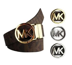 MK Logo - Michael Kors Women's Signature Reversible Circle MK Logo Belt 551342 ...