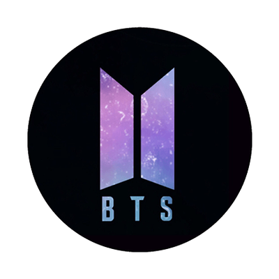 BTS Logo - BTS] BLACK GALAXY LOGO POP HOLDER - DaebakCases
