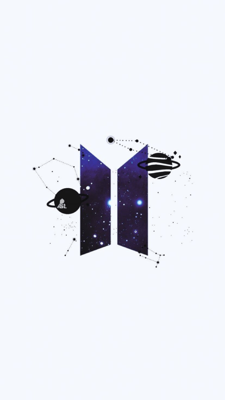 BTS Logo - Bts logo galaxy icon starry space purple | {BTS} in 2019 | BTS, Bts ...