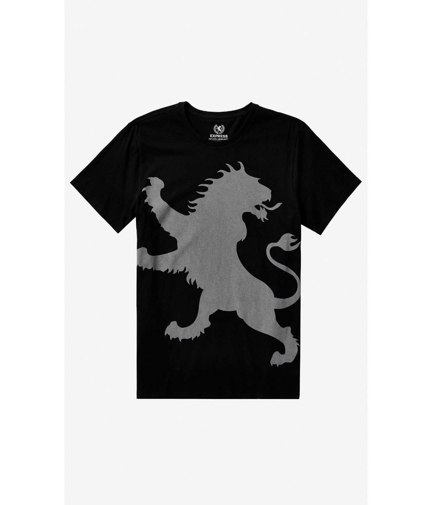 Express Lion Logo - Lyst - Express Black Oversized Lion Graphic Tee in Black for Men