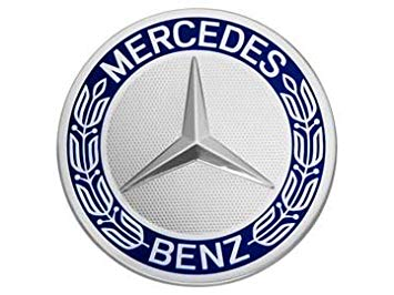Blue and Silver Car Logo - Mercedes-Benz Original amp; AMG Wheel Centre Diameter 74 - 75 mm ...