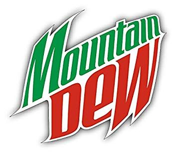 Mountain Dew Logo - Amazon.com: Mountain Dew Logo Car Bumper Sticker Decal 14