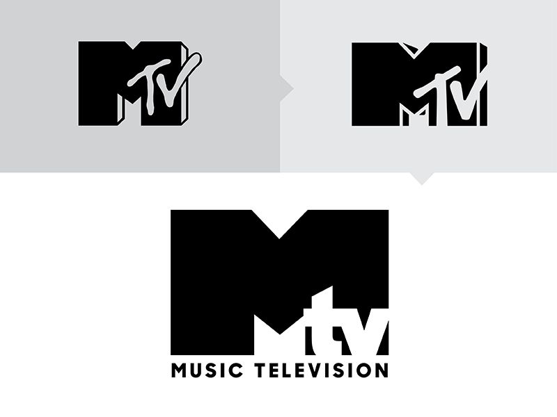 MTV Logo - MTV Logo Refresh by Sam Harachis | Dribbble | Dribbble