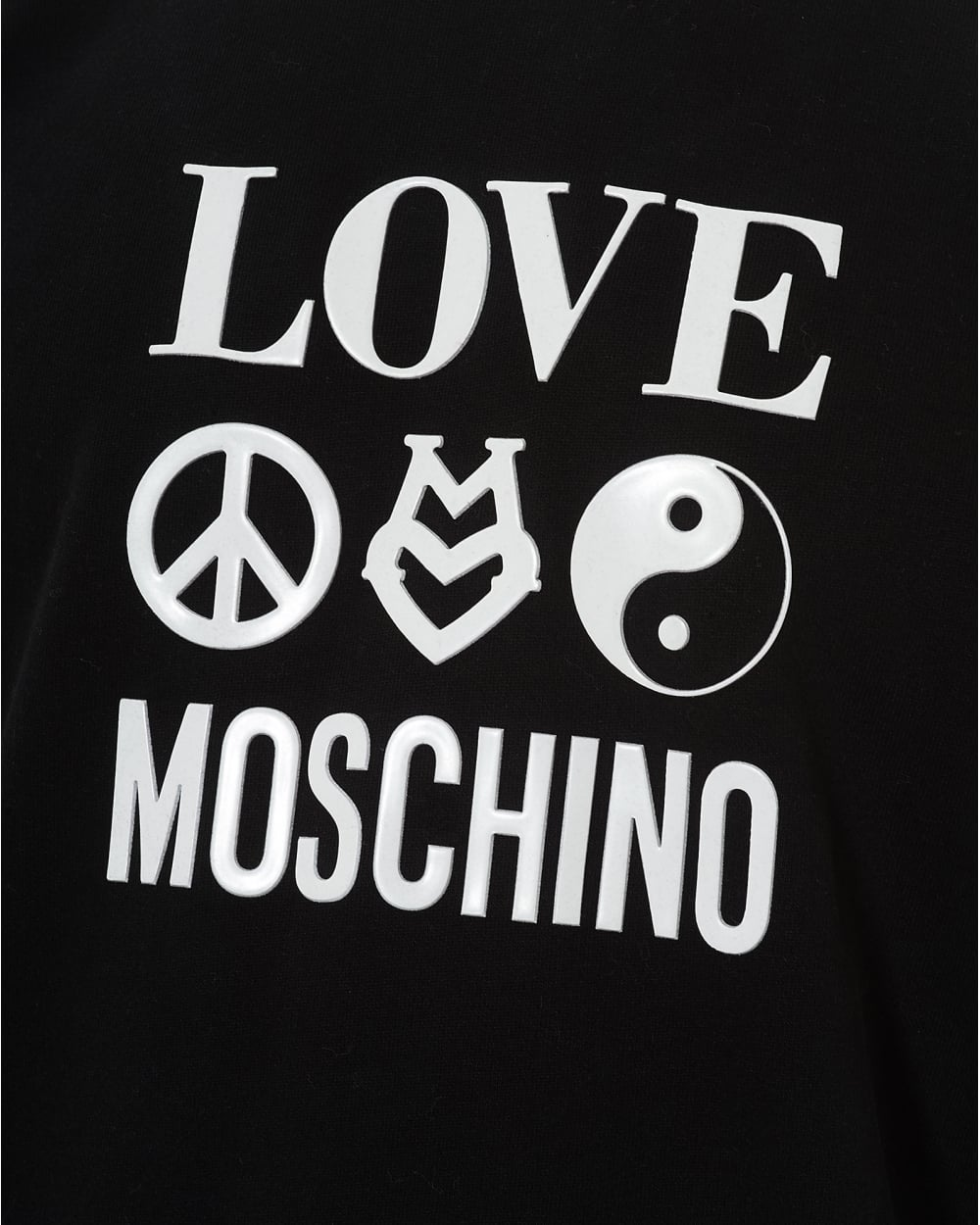 Moschino Logo - Love Moschino Mens 3 Logo Signs Sweatshirt, Regular Fit Black Jumper
