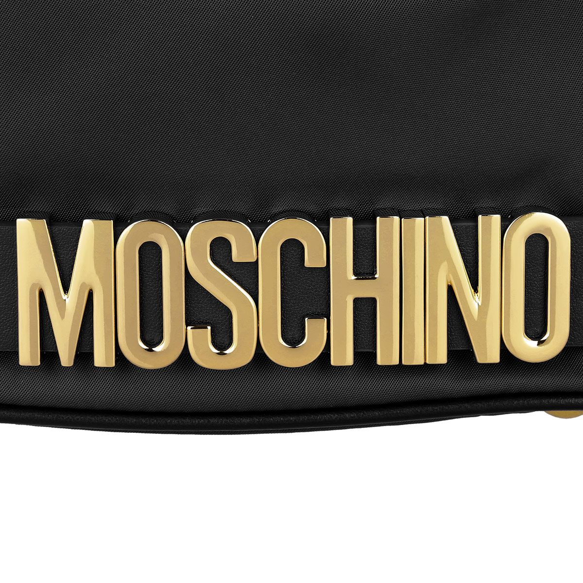 Moschino Logo - Moschino Logo Medium Nylon Bucket Bag. Black in black | fashionette