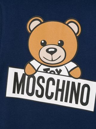 Moschino Logo - Moschino Kids teddy bear logo T-shirt $67 - Shop AW18 Online - Fast ...