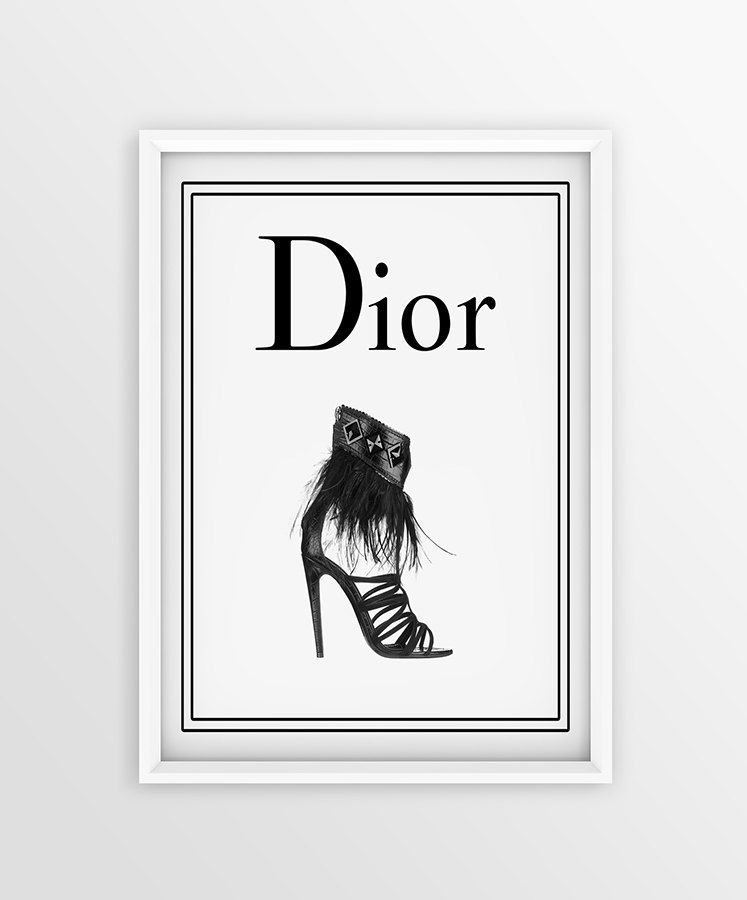 Dior Logo - Shoes Dior Logo Print Closet Room Decor Art print Fashion | Etsy