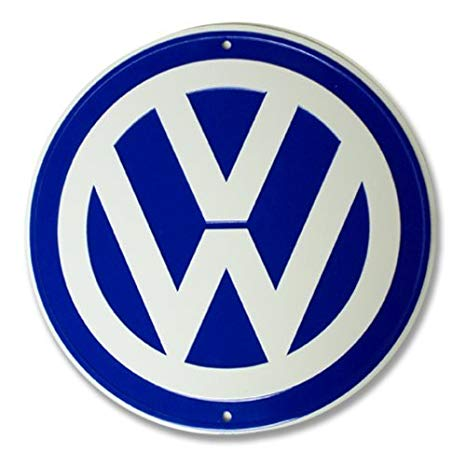Volkswagen Logo - VW Logo Garage Sign by VW: Amazon.co.uk: Car & Motorbike