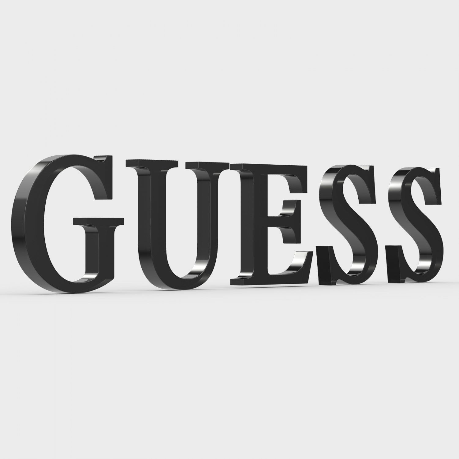 Guess Logo - Guess logo 2 3D Model in Clothing 3DExport