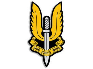 SAS Logo - 3x5 inch British SAS WIngs Shaped Sticker -Who Dares Wins Special ...